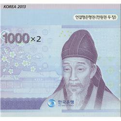 Korea 1000 5000 Won uncut sheets in original package