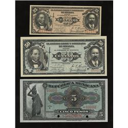 Mexico - Lot of 5 Notes