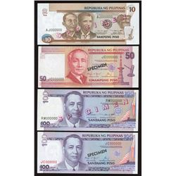 Lot of 4 Philippines Specimen Notes