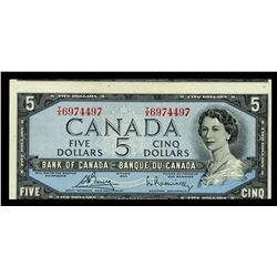 Bank of Canada $5, 1954 Off-Center