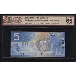 Bank of Canada $5, 2002 Radar, Repeater