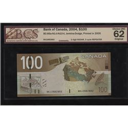 Bank of Canada $100, 2004 Radar Repeater