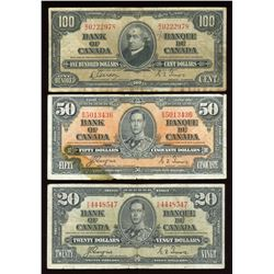 $1 - $100 Bank of Canada Set, 1937