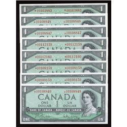 Bank of Canada $1, 1954 - Lot of 8 Replacement Notes