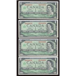 1967 Bank of Canada $1 Replacements - Lot of 4 Consecutive