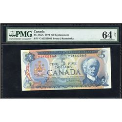 Bank of Canada $5, 1972 Replacement