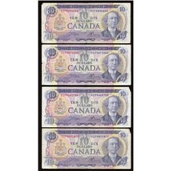 Bank of Canada $10, 1971 EEP Prefix - Lot of 4