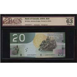 Bank of Canada $20, 2004 Changeover Note