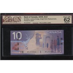 Bank of Canada $10, 2005 Single Note Replacement