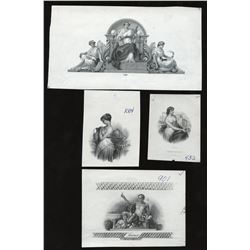 Ephemera - Lot of 4 Allegorical Vignettes
