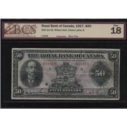 Royal Bank of Canada $50, 1927