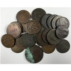 Post Confederation - Lot of 28 Assorted Tokens