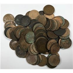 Canada Large One Cent - Lot of 107 Culls