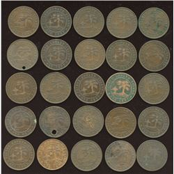 1871 Prince Edward Island One Cent - Lot of 25 Coins
