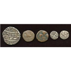 French India - Lot of 5
