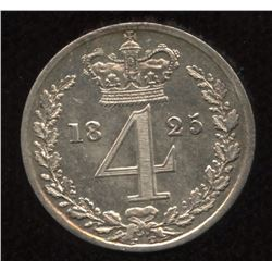 Great Britain: George IIII 4 Pence from Maundy Set, 1825