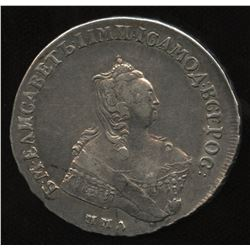 Russia, MMD Elizabeth Rouble, 1756