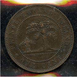 1871 PEI Victoria Large Cent - Upset Dies