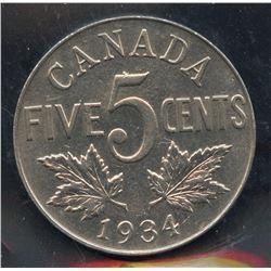 1934 Five Cents