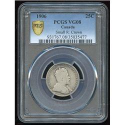 1906 Twenty-Five Cents Small Crown