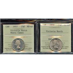 1957 & 1958 Twenty-Five Cents