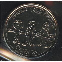 1999 Twenty-Five Cents September Mule