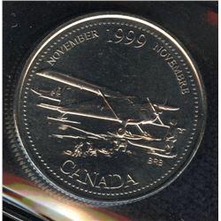 1999 Twenty-Five Cents November Mule