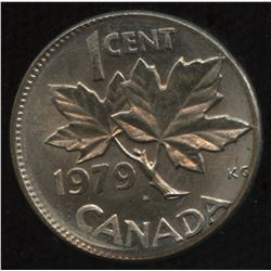 1979 One Cent Struck on Barbados Ten Cent Planchet