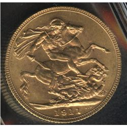 1911 Canadian Gold Sovereign