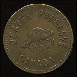 HUDSON'S BAY COMPANY - Beaver Preserve Token in Brass