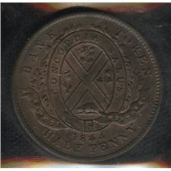 Br. 527, Province of Canada Half Penny, 1844