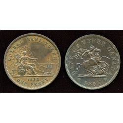 Two pennies: Br. 528 and Br. 719.