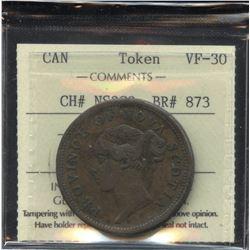 Br. 873, Province of Nova Scotia One Penny, 1840