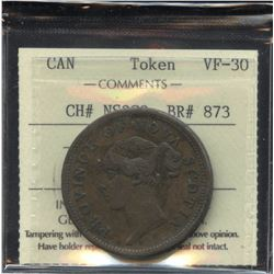 Br. 873, Province of Nova Scotia One Penny, 1840