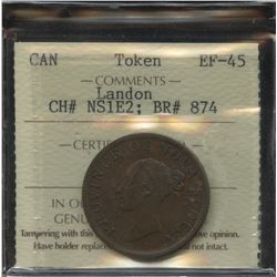 Br. 874, Province of Nova Scotia Half Penny, 1840