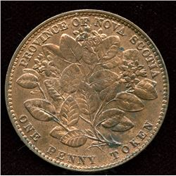 Br. 875, Nova Scotia 1856 Mayflower Penny
