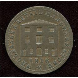 Br. 893, W.A. & S. Black token