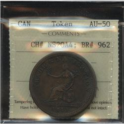 Br. 962 Trade & Navigation One Penny Token, 1815