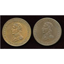 Br. 986, 987.  A pair of Wellington Peninsular Tokens.