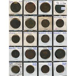 Group lot of 76 Canadian tokens.