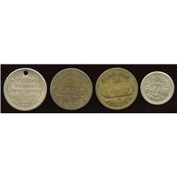 Ontario - Br. 734, 749, 750, 752.  Lot of four tokens.