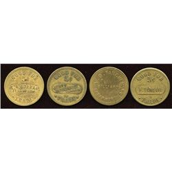 Ontario - Br. 752, 753, 754, 757.  Lot of four tokens.