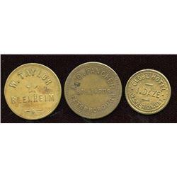 Ontario - Br. 753, 764, 839.  Lot of three tokens.