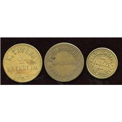Ontario - Br. 753, 764, 839.  Lot of three tokens.
