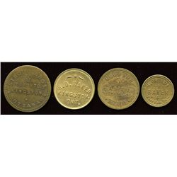 Ontario - Br. 754, 760, 786, 787.  Lot of four tokens.