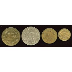 Ontario - Br. 793, 794, 827, 839.  Lot of four tokens.