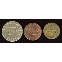 Ontario - Br. 799, 800, 801.  Lot of three Orphelinat St. Joseph tokens.