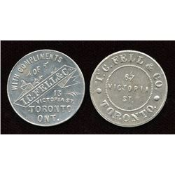 Ontario - Br. 844, 845. Lot of two I.C. Fell Tokens.