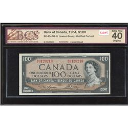 Bank of Canada $100, 1954 - 3 Digit Radar