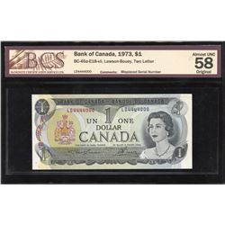 Bank of Canada $1, 1973 ERROR - Misplaced Serial Number